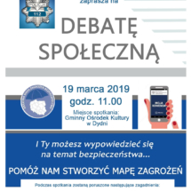 plakat debata policja